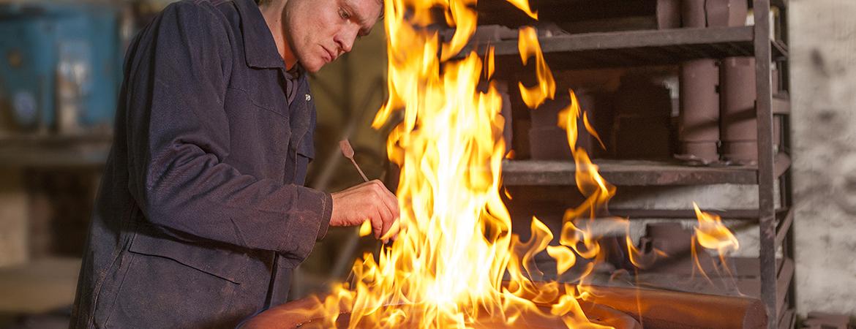 Oberflächenbehandlung Eisengießerei